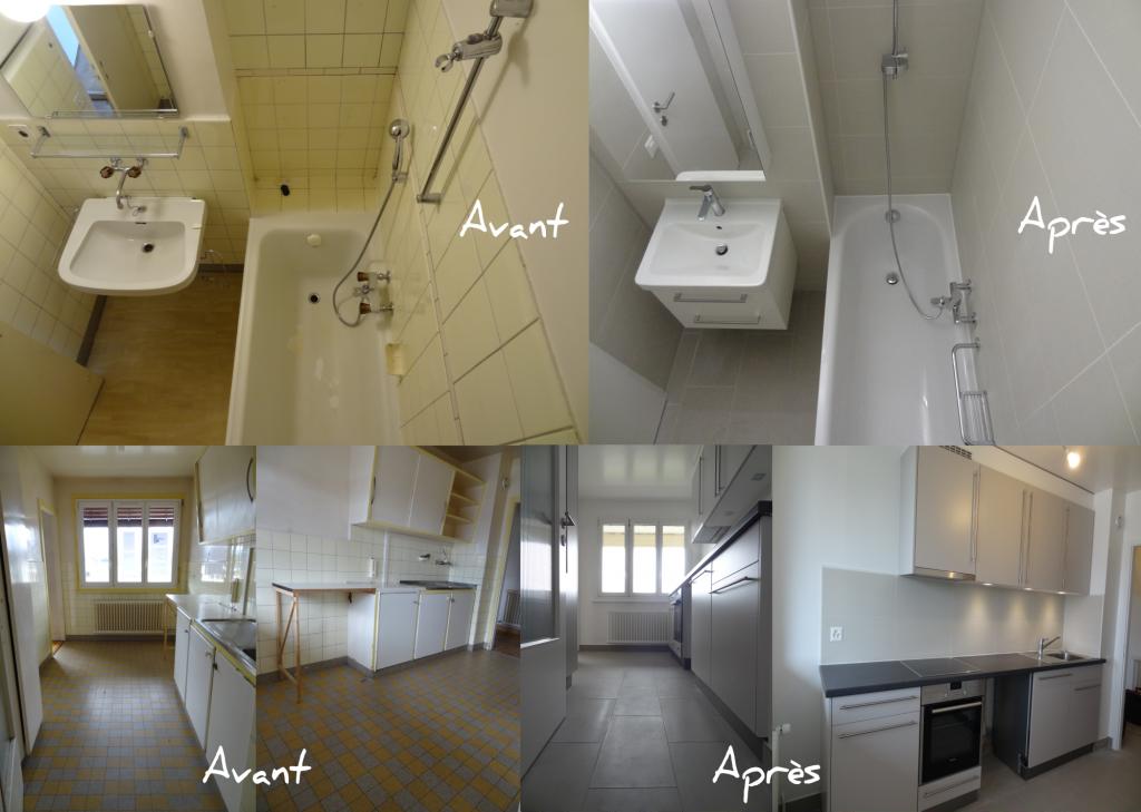 Rénovation salle de bain et cuisine