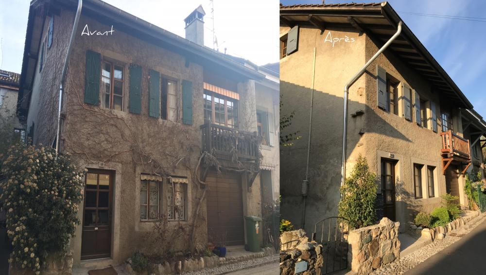 Nettoyage de façade maison